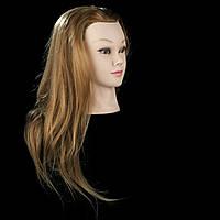 Учебная голова-манекен на штативе 55-60 см. 80% натуральных волос