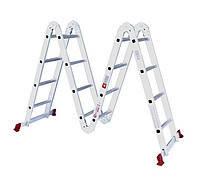 Intertool LT-0029 Лестница алюминиевая мультифункциональная трансформер 4*4ступ. 4.75м