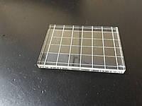 Акриловый блок для штампов 7*5 см с насечкой