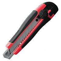 Intertool HT-0503 Нож с лезвием 18мм  металлические направляющие, винт фиксации