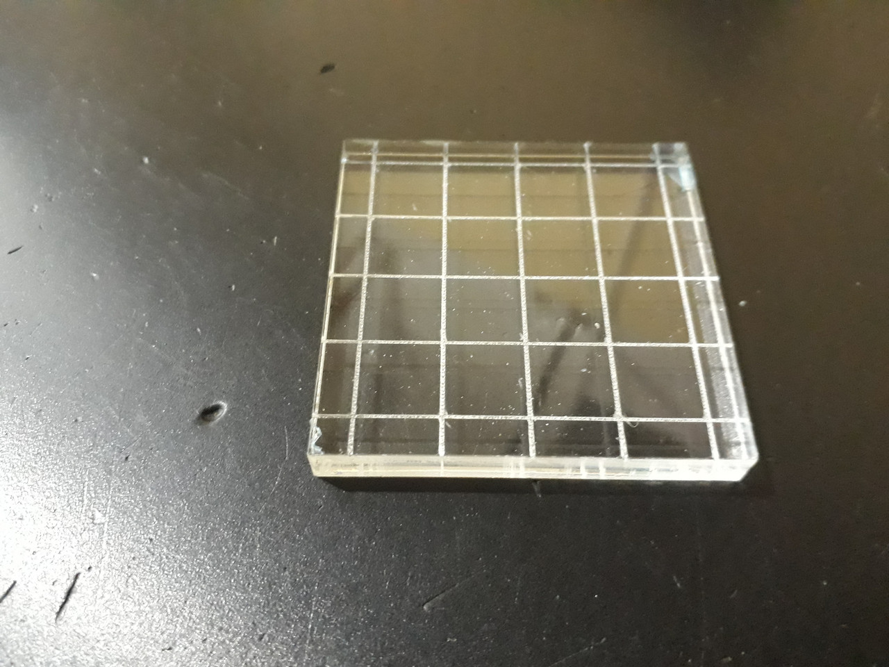 Акриловий блок для штампів 5*5 см з насічкою