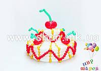 Двухъярусный торт из воздушных шаров