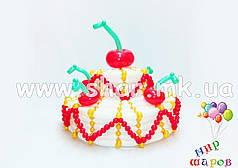 Двох'ярусний торт з повітряних кульок