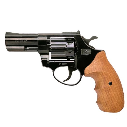 """Револьвер Zbroia PROFI 3"""" под патрон флобера (чёрный / бук)"""