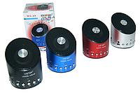 Портативная акустика с радио, модель MINI MP3 WSTER WS-A9, USB-порт, картридер