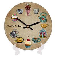 Часы круглые декоративные Чаепитие 18 см