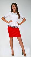 Оригинальная женская нарядная блуза-вышиванка