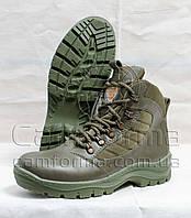 Тактические ботинки ОЛИВА  кожа глянец