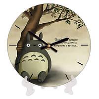 Круглые часы декоративные с принтом 18 см