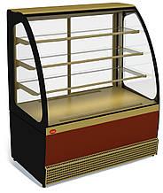 Кондитерська холодильна вітрина Veneto VS-1,3 New (+5...+10C, динаміка)
