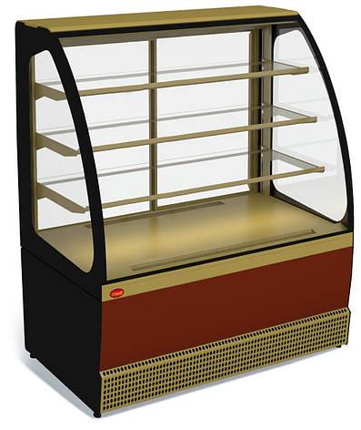 Кондитерская холодильная витрина Veneto VS-1,3 New (+5...+10C, динамика), фото 2