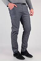 Мужские молодежные брюки серые (225KF082-5)