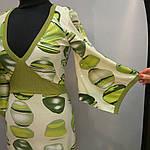 Сукня зелене ошатне кимано трикотаж 429131, фото 4