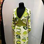 Сукня зелене ошатне кимано трикотаж 429131, фото 7