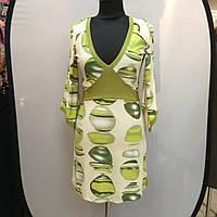 Платье зеленое нарядное кимано трикотаж 429131