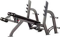 Скамья для жима под углом вниз со стойками INTER ATLETIKA X-LINE X306