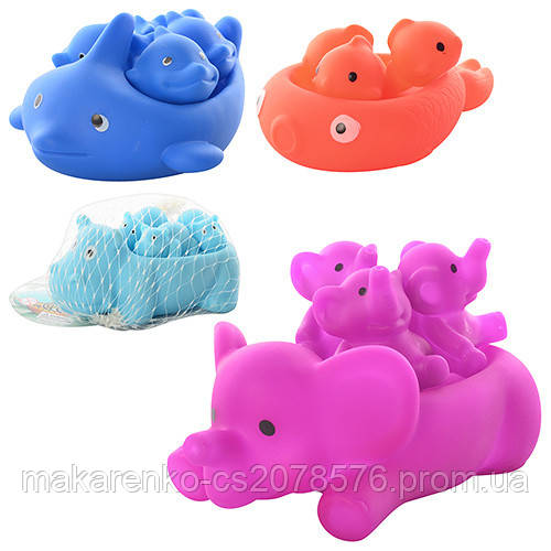Животные для купания,пищалки