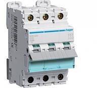 Автоматический выключатель 1А 3p D 10кА NDN301 Hager
