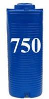 Емкость вертикальная круглая 750 литров(с двойной стенкой)