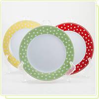 Набор фарфоровых тарелок 18,35 см