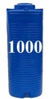 Емкость вертикальная круглая 1000 литров(с двойной стенкой)