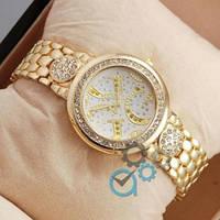 Наручные часы Guess crystal Gold/White