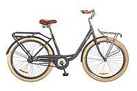 """Велосипед Дорожник Lux 26"""" 14G рама-17"""" St 2017 (OPS-D-26-017) серый с багажником"""