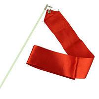 Лента гимнастическая красная 6 м.