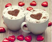 2 чашки кофе (полная выкладка) 25*20 см