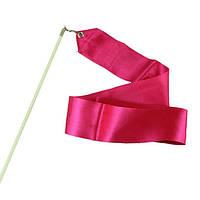 Лента гимнастическая розовая 6 м.