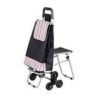 Тележка-сумка на колесах со складным стулом