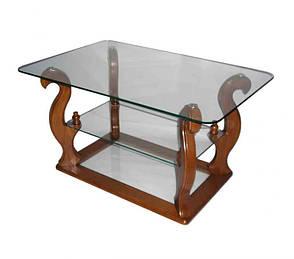 Стеклянный журнальный столик на колесиках ДС-15 Шедевр Антоник, цвет на выбор, фото 2