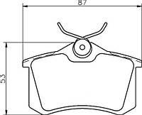 Тормозные колодки AUDI/Ауди ALLROAD (4BH, C5) 2.5TDI, 2.7T 05/2000-08/2005 дисковые задние, Q-TOP QE2719E
