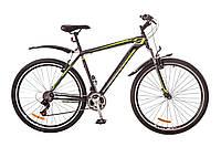 "Велосипед Discovery Trek 29"" AM 14G Vbr рама-21"" St 2017 (OPS-DIS-29-019) серо-черно-зеленый"