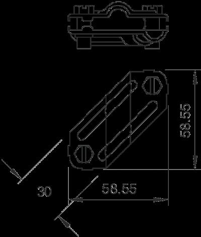 Крестовой OBO BETTERMANN соединитель для плоских и круглых проводников (250) 5312906