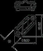 Крестовой соединитель для плоских и круглых проводников (250) 5312906