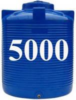 Емкость вертикальная круглая 5000 литров(с двойной стенкой)