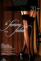 Очаровательные тонкие чулочки Omsa LA FEMME FATALE 20 под пояс  KLG-365