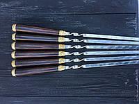 Шампура ручной работы с бронзовыми вставками 73 см, фото 1