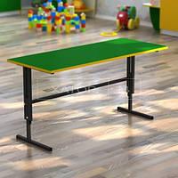 Стол регулируемый по высоте двухместный для детского сада (цветной)