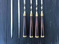 Шампура ручної роботи з бронзовими вставками 73 см, фото 1