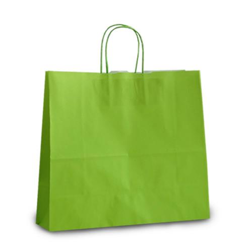 Крафт-пакет 32x13x28 светло-зеленый с витыми ручками