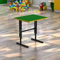 Стол регулируемый по высоте одноместный для детского сада (цветной)