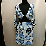 Туніка блакитне плаття нарядне кимано трикотаж 429131, фото 3
