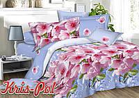 """Комплект постельного белья двуспальный евро """"Цветение весны""""."""