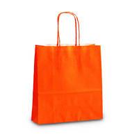 Крафт-пакет 18х08х20 оранжевый с витыми ручками
