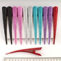 Уценка!!! Утка-стрела 12 см чёрная с блёстками (скол на блестках около 1,5мм*7мм, основа черн), осталась 1 шт.