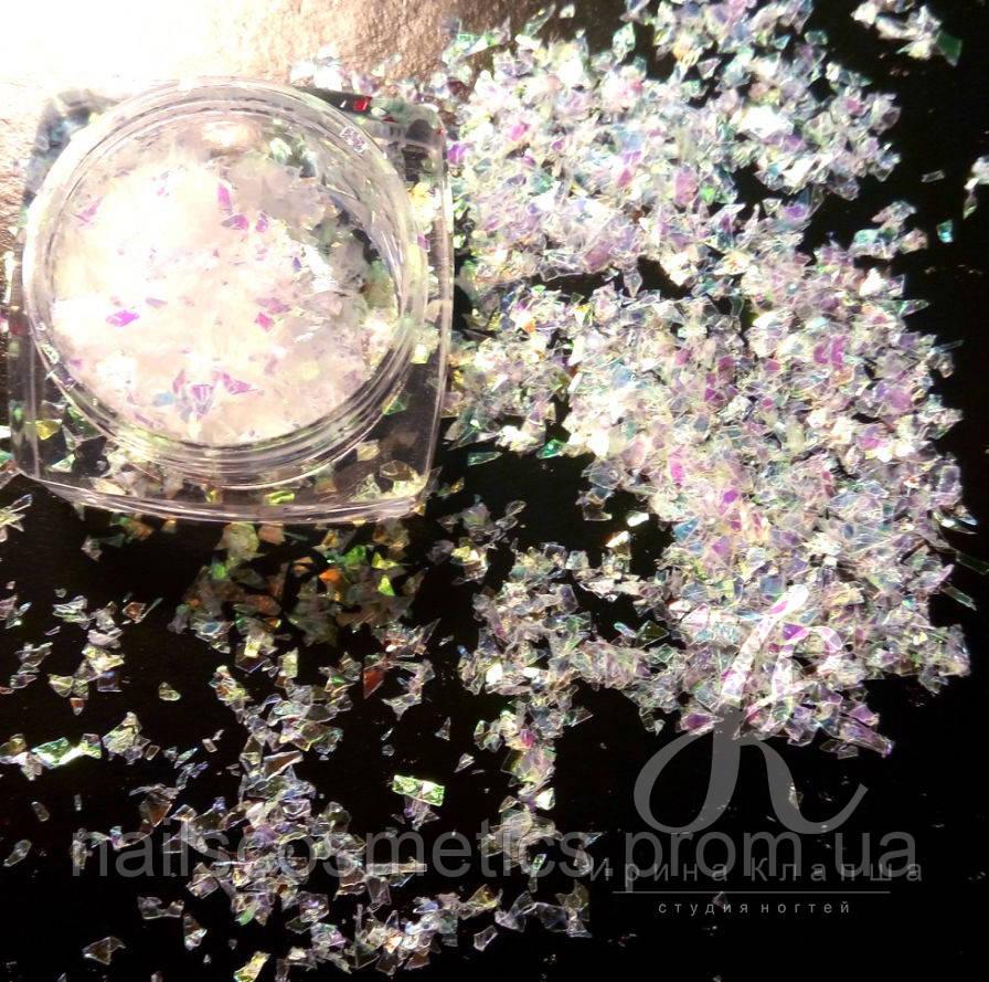 Битое стекло нарезное звездочки в ассортименте (14 видов)