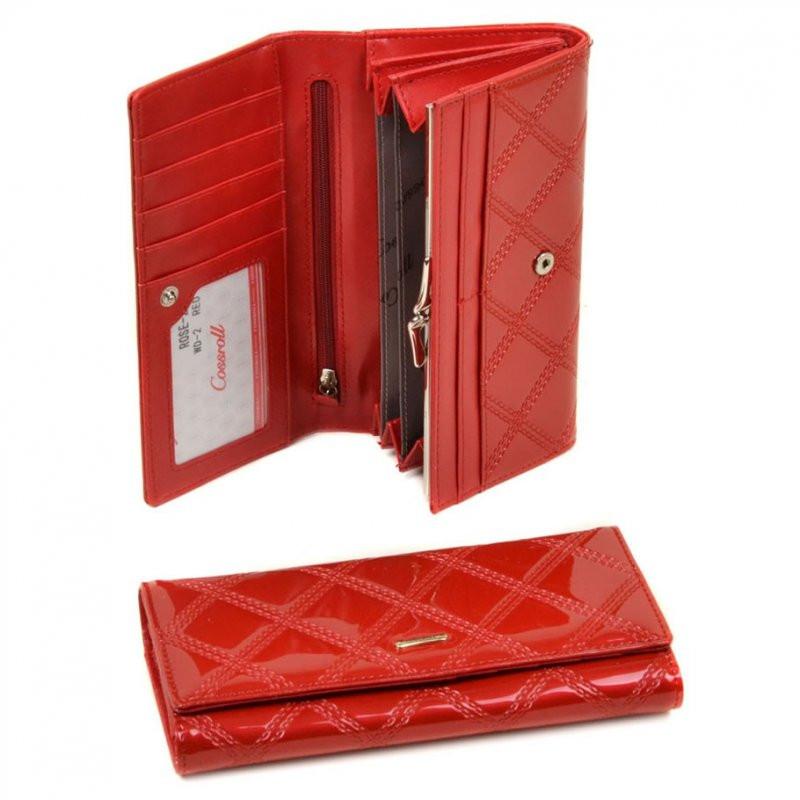 c3339c8cf098 Кошелек лаковый красного цвета женский - Интернет магазин сумок SUMKOFF -  женские и мужские сумки,
