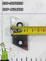 Нож калёный ромбовидный к садовому измельчителю веток длиной 62мм, шириной 24мм, фото 1